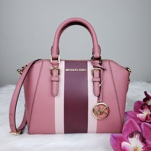 🌺NWT Michael Kors MD Ciara Satchel bag rose pink